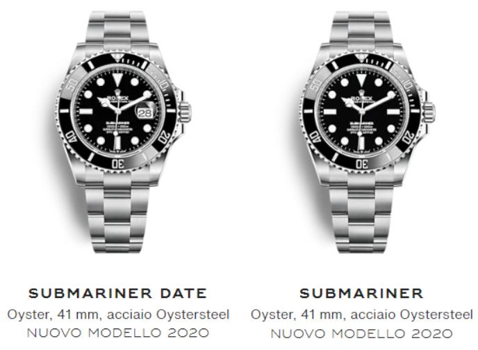 nuovo Submariner 2020