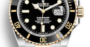 Homage Rolex Submariner Acciaio Oro quadrante nero