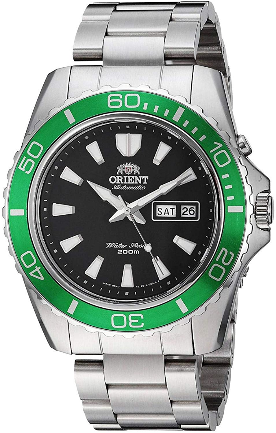 Orient Mens Analogue Automatic Watch with Stainless Steel Strap